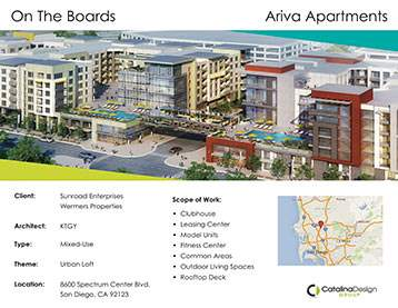 Ariva Apartments, Sunroad/Wermers, San Diego, CA, Corporate and Commercial Interior Design