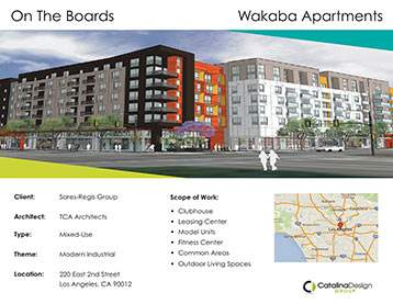 Wakaba Apartments, Sares Regis Group, Los Angeles, CA, Corporate and Commercial Interior Design