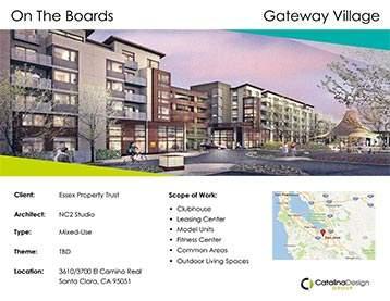 Gateway Village Essex Property Trust, Santa Clara, CA, Commercial Interior Design Projects