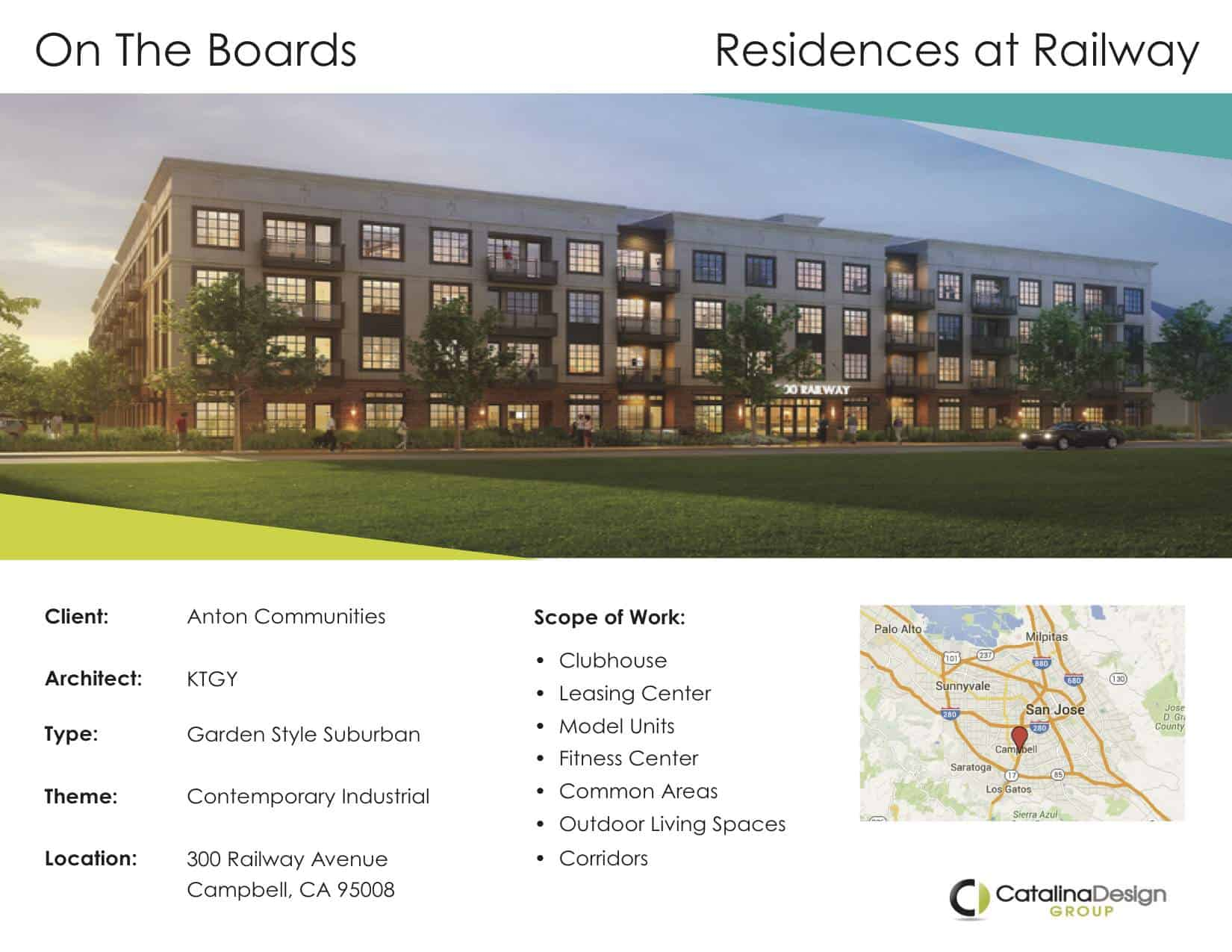 Residences at Railway Anton Communities Campbell, CA, Commercial Interior Design Projects