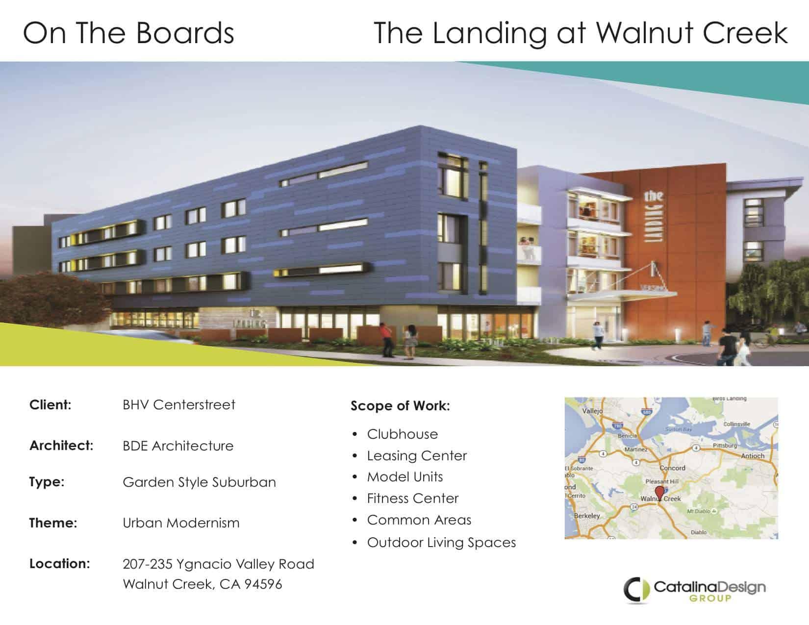 The Landing at Walnut Creek BHV Centerstreet Walnut Creek, CA, Commercial Interior Design Projects