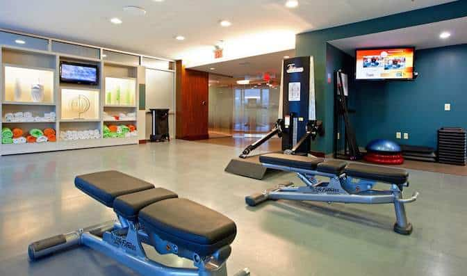 Exercise room furniture equipment in gym