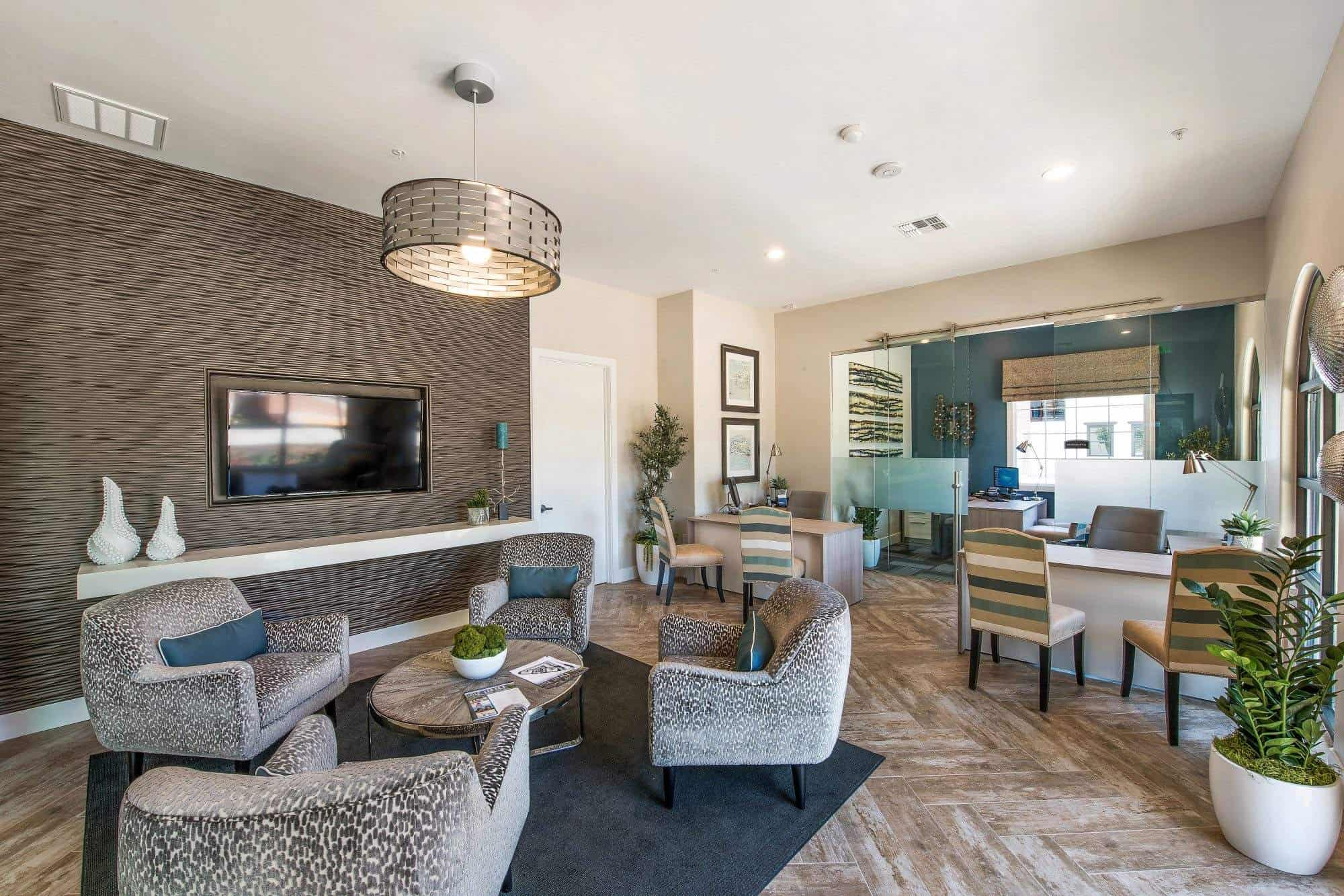 Multi family design trends for the leasing office and for Leasing office decorating ideas